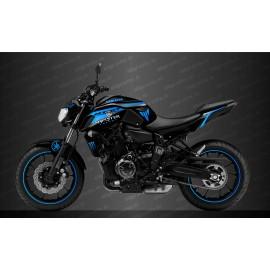 Kit deco 100% Personalizado Carrera de Monster Edition (azul) - IDgrafix - Yamaha MT-07 (después de 2018)