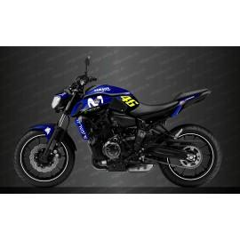 Kit déco GP Edition (Bleu) - IDgrafix - Yamaha MT-07 (après 2018)