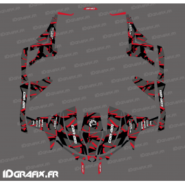 Kit decoration Broken series (Red) - Idgrafix - Can Am 1000 Maverick 4 seater