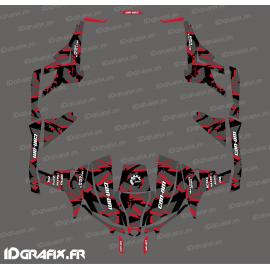 Kit dekor Broken series (Rot) - Idgrafix - Can Am Maverick 1000 4 plätze -idgrafix