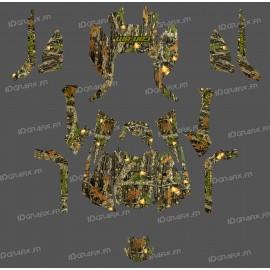 Kit di decorazione, Muschio di Quercia Serie COMPLETA - IDgrafix - Can Am Outlander (G2) -idgrafix