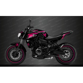 Kit deco 100% Custom Monster Race Edition (pink) - IDgrafix - Yamaha MT-07 (after 2018)