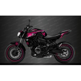 Kit deco 100% Personalitzat Cursa de Monstre Edició (rosa) - IDgrafix - Yamaha MT-07 (després de 2018) -idgrafix