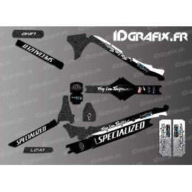 Kit déco TroyLee Edition Full (Noir/Blanc - Specialized Levo Carbon-idgrafix