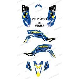 Kit de decoració Geomètrica Blau - IDgrafix - Yamaha YFZ 450
