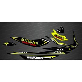 Kit de decoració Rockstar Edició Completa (Groc) - per Seadoo GTI -idgrafix