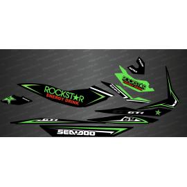 Kit de decoración de Rockstar Edición Completa (Verde) - para Seadoo GTI -idgrafix