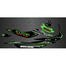 Kit decoration Rockstar Edition Full (Green) - for Seadoo GTI