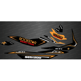 Kit decoration Rockstar Edition Full (Orange) - for Seadoo GTI - IDgrafix
