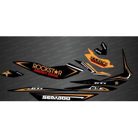 Kit decorazione Rockstar Edizione Completa (Arancione) - per Seadoo GTI -idgrafix
