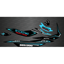 Kit décoration Rockstar Edition Full (Turquoise) - pour Seadoo GTI-idgrafix