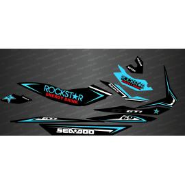Kit decoration Rockstar Edition Full (Turquoise) - for Seadoo GTI - IDgrafix