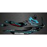 Kit decoration Rockstar Edition Full (Turquoise) - for Seadoo GTI