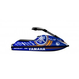 Kit décoration 100% Perso Blue pour Yamaha SuperJet 700 -idgrafix