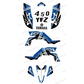Kit de decoración de la Calle Azul - IDgrafix - Yamaha YFZ 450