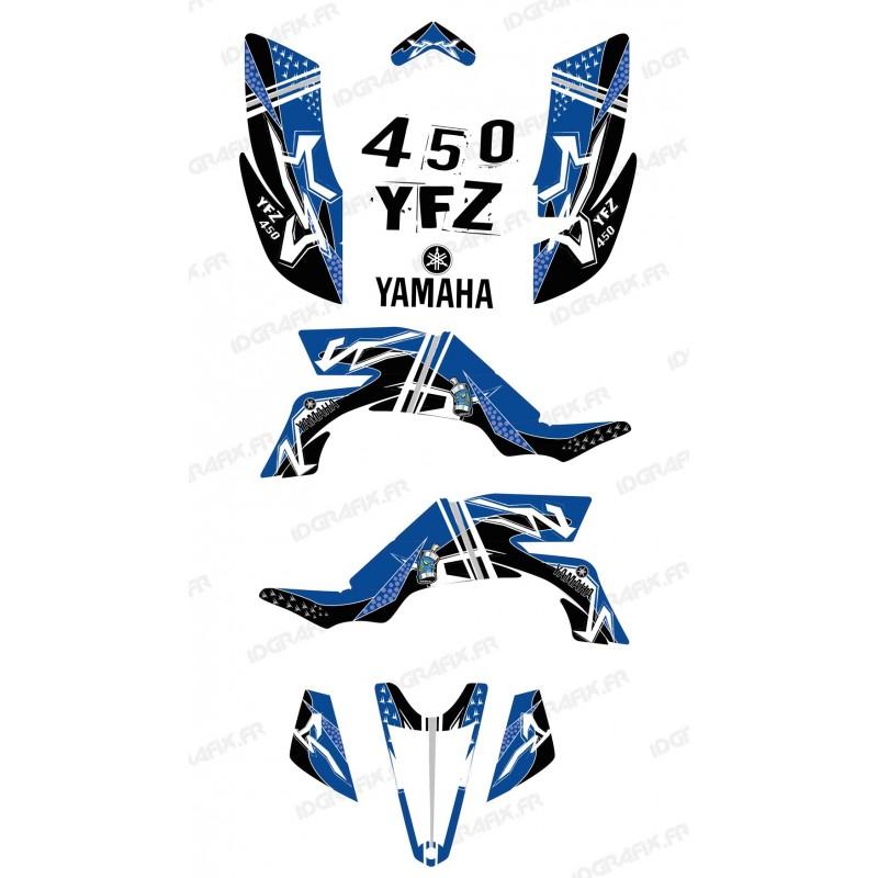 Kit de decoració Carrer Blau - IDgrafix - Yamaha YFZ 450