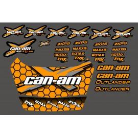 Kit stickers Can Am Outlander + Safety deposit box (Orange)-idgrafix