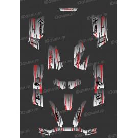 Kit Deco Perso Monster Edition (Grigio/Rosso) - Kymco 550 / 700 MXU -idgrafix