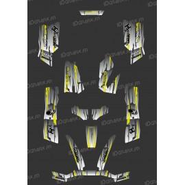 Kit Deco Perso Monster Edition (Grigio/Giallo) - Kymco 550 / 700 MXU -idgrafix