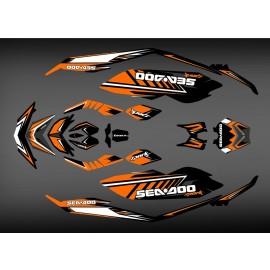 Kit déco SPARK Orange pour Seadoo Spark