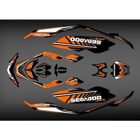 Kit déco SPARK Orange pour Seadoo Spark-idgrafix