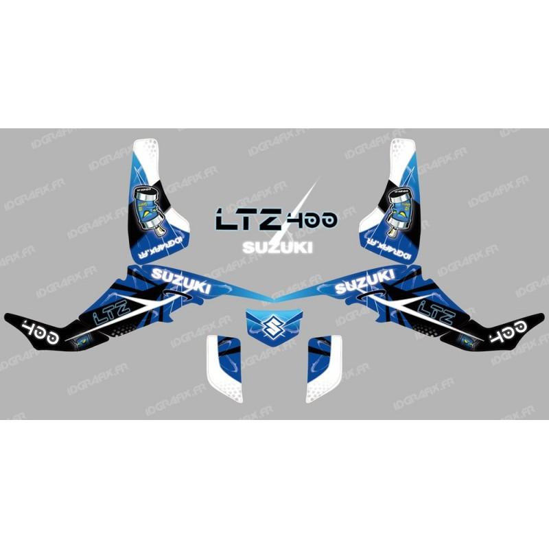 Kit décoration Space Bleu - IDgrafix - Suzuki  LTZ 400 - Idgrafix