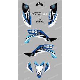 Kit de decoración de Espacio Azul - IDgrafix - Yamaha YFZ 450