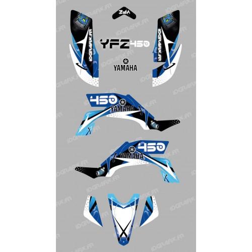 Kit décoration Space Bleu - IDgrafix - Yamaha YFZ 450-idgrafix