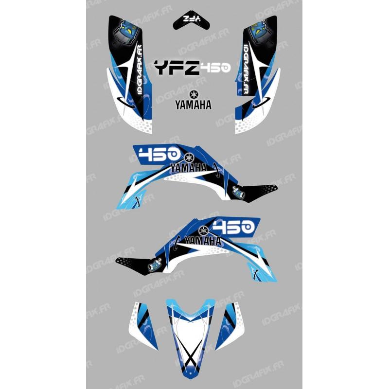 Kit de decoración de Espacio Azul - IDgrafix - Yamaha YFZ 450 -idgrafix