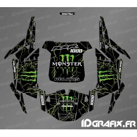 Kit de décoration Monstre 2018 Edició (verd)- IDgrafix - Polaris RZR 1000 S/XP -idgrafix