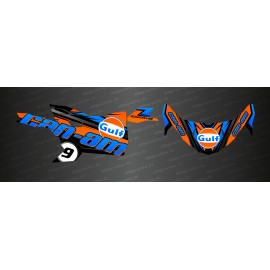 Kit de decoración Gulf Edition - Idgrafix - Can Am Maverick Trail -idgrafix