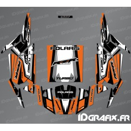 Kit de decoració Recta Edició (Taronja)- IDgrafix - Polaris RZR 1000 Turbo -idgrafix