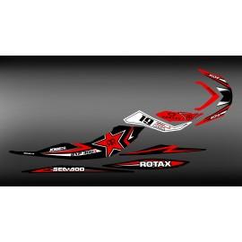 Kit de decoración de Rockstar energy/Motul Rojo para Seadoo RXP-X 260 / 300 -idgrafix