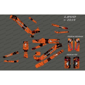Kit deco Brush Edition Full (Orange) - Specialized Levo (after 2019)-idgrafix