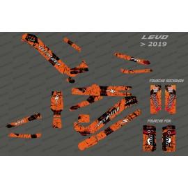 Kit-deco-Brush Edition Full (Orange) - Specialized-Levo (nach 2019)-idgrafix