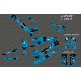 Kit déco Brush Edition Full (Bleu) - Specialized Levo (après 2019)