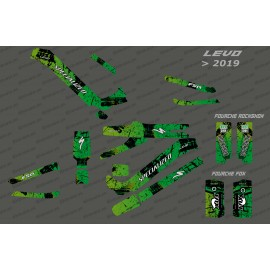 Kit deco Brush Edition Full (Green) - Specialized Levo (after 2019)