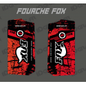 Stickers Protection Fourche Fox - Brush (Rouge)