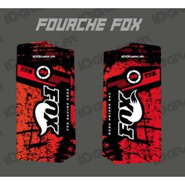 Adesivi Protezione Forcella Fox - Pennello (Rosso) -idgrafix