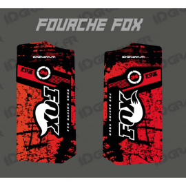 Stickers Protection Fork Fox - Brush (Red)-idgrafix