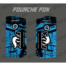 Stickers Protection Fork Fox - Brush (Blue) - IDgrafix