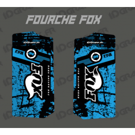 Stickers Protection Fourche Fox - Brush (Bleu)-idgrafix