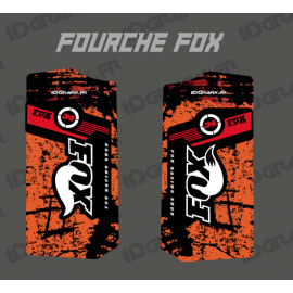 Stickers Protection Fork Fox - Brush (Orange)-idgrafix