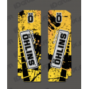 Stickers Protection Fork Ohlins - Brush (Yellow)