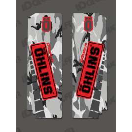 Stickers Protection Fork Ohlins - Camo-idgrafix