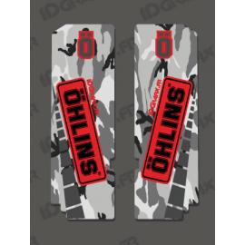 Stickers Protection Fork Ohlins - Camo - IDgrafix