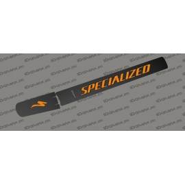 Sticker protection Tube Batterie - Carbon edition (Orange) - Specialized Levo (après 2019)-idgrafix