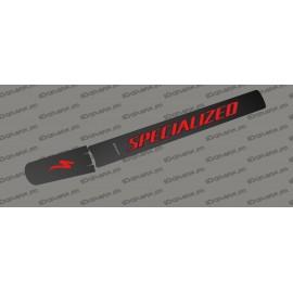 Sticker protection Tube Batterie - Carbon edition (Rouge) - Specialized Levo (après 2019)-idgrafix