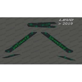 Kit deco di Carbonio Edizione della Luce (Verde) - Levo (dopo il 2019) -idgrafix