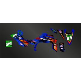 Kit decorazione di Sabbia Edizione Blu - IDgrafix - Yamaha YFZ 450 / YFZ 450R